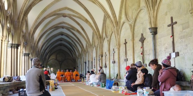 Alms-Offering at Salisbury Cathedral Church